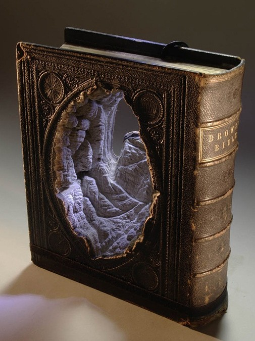Landscapes Carved Into Books by Guy Laramee